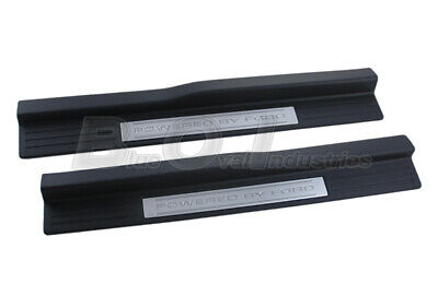 $164.95 • Buy 2005-2014 Ford Mustang Boss 302 Powered By Ford Lower Door Sill Step Pads Plates