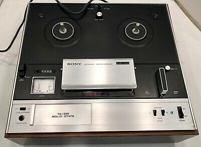 $179 • Buy Vintage SONY TC-355 7  REEL TO REEL PLAYER Tapecorder Tape Recorder W Cover