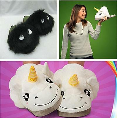 AU12.93 • Buy 1 Pair Kids Unicorn Slippers Unisex Soft Warm Plush Fluffy Gift Winter Indoor SW