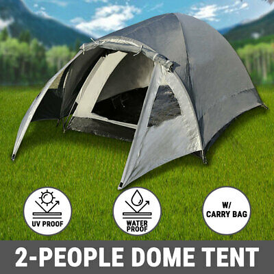 AU27.50 • Buy 2 Person Camping Tent Dome Waterproof Canvas Sleep Shelter Hiking Beach Outdoor