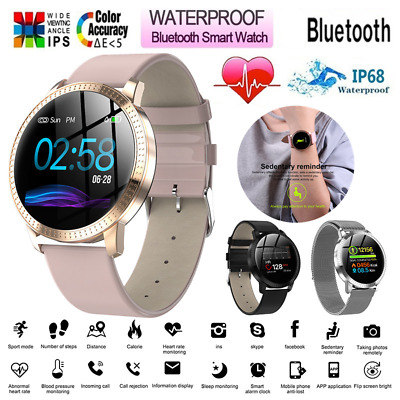 AU55.39 • Buy Womens Mens Bluetooth Smart Watch Android IOS Heart Rate Monitor Blood Pressure
