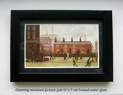 L S Lowry In Miniature 'the Pawnbroker' 1931 Charming Picture Framed Under Glass • 12£
