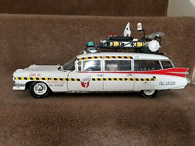 Ghostbusters 2 Hot Wheels Elite  Ecto-1A 1:8  Scale Rare  • 120£