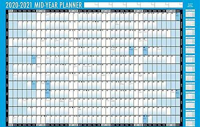 2020-2021 Academic Year Unmounted Laminated Wall Planner A1 & A2 Sizes Available • 6.99£