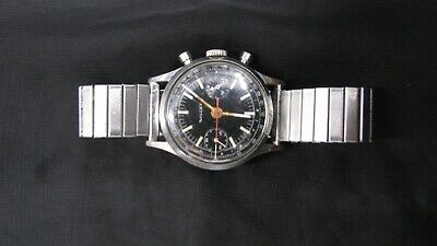 $ CDN1692.30 • Buy Vintage Gallet Chronograph Watch Overwound With Non Original Band