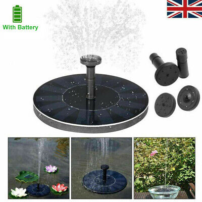 180L/H Solar Garden Pond Pool Submersible Floating Fountain Water Pump Battery • 11.99£