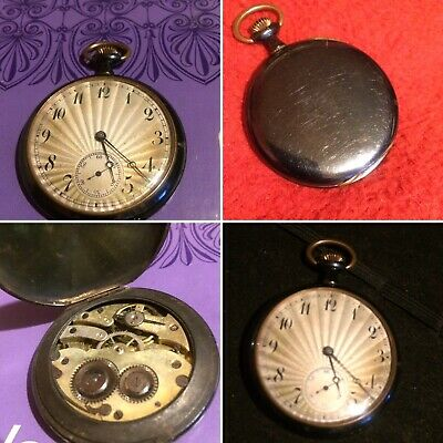 Exquisite 1920's Art Deco Sunburst Open Faced Pocket Watch • 16£