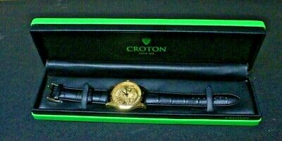 $202 • Buy CROTON $20 Gold Coin Replica Watch Watch 42mm Mens Stainless Swiss Quartz W/ Box