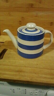 T G Green Cornishware Blue White Tea Pot 30oz .circa 1997 .only Been On Display. • 32£