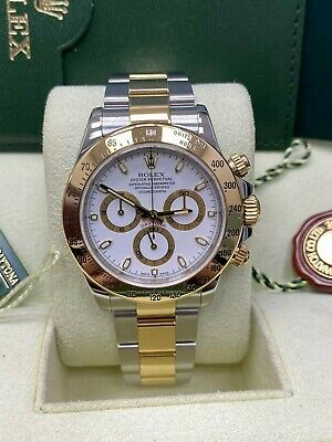 $ CDN18682.62 • Buy Rolex 116523 Daytona White Dial 18K Yellow Gold Steel Box Booklets