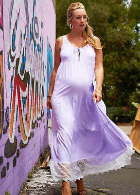 AU40 • Buy NEW - Fillyboo - Songbird Maxi Dress In Lilac - Maternity Clothes - FINAL SALE