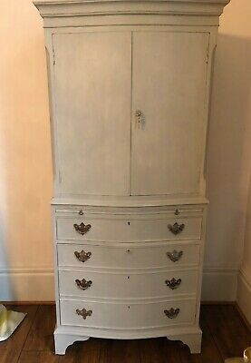 Painted Cabinet Painted In Paris Grey Paint From Annie Sloan • 95£
