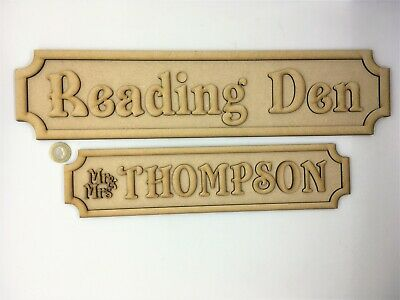 Name Plaque STREET SIGN LARGE Door Personalised MDF Wooden Blank Vinyl I28 • 6.99£