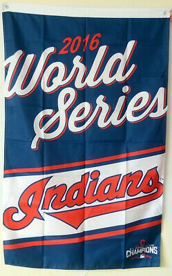 $13.99 • Buy CLEVELAND INDIANS FLAG 3X5FT MLB 2016 WORLD SERIES BANNER US Free Shipping