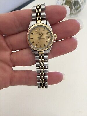 $ CDN2383.02 • Buy Vintage 1980's Ladies Rolex SS Gold Oyster Perpetual Original Owner Runs Fast