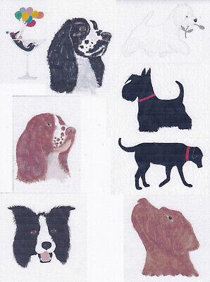 £3 • Buy Handmade / Hand Painted Dog Greetings Cards Using Watercolour Paint