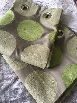 """NEXT Curtains 53"""" X 72"""" New Champagne/Green • 1£"""