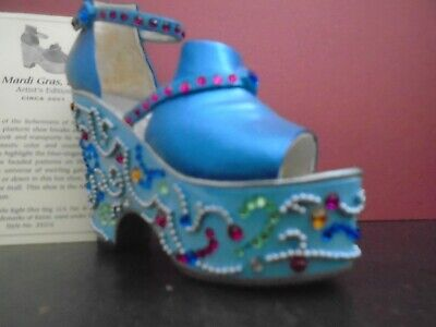 Just The Right Shoe Mardi Gras , Blue ( Artist Edition ) • 8.50£