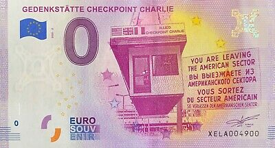 Ticket 0 Euro Gedenkstatte Checkpoint Charlie Germany 2020 Number 4900 • 5.46£