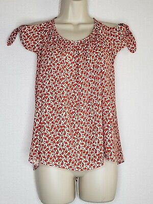 $ CDN29.15 • Buy Bailey 44 Anthropologie Womens Small Blouse Spaghetti Strap Cold Shoulder Red