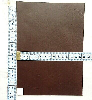 Dark Brown Veg Tan Craft Leather 2mm Thick  Tooling Leather Hide Small Offcuts • 4.95£
