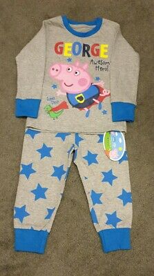 GEORGE AWESOME HERO! Peppa Pig Pyjamas 1-1.5 Years Mathercare. New With Tags. • 4.99£