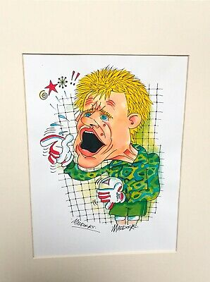 Peter Schmeichel Manchester United 16 X 8 Mounted Colour Caricature By Maddocks • 10.99£