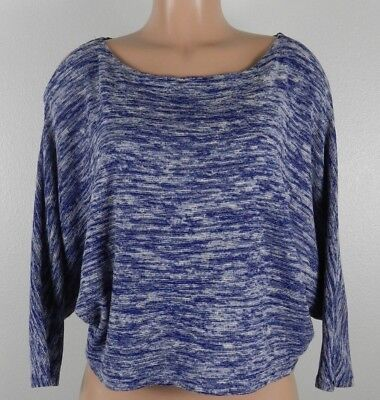 $ CDN29.81 • Buy  Postmark Anthropologie Women's Medium Blue White Shirt Boat Neck Dolman Sleeve