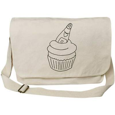 'Champagne Cupcake' Cotton Canvas Messenger Bags (MS023227) • 14.99£