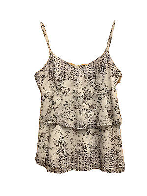 $19.95 • Buy Cabi Style#272 Floral Tiered Sleeveless Camisole Top Womens Small