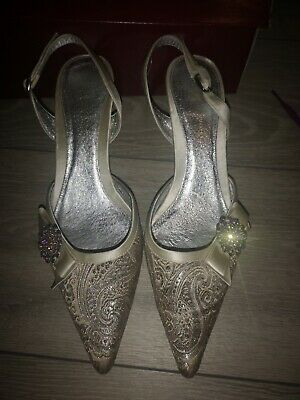 Emilio Luca Shoes Size 6 Two Tone Gold Silver Pewter Colour  • 8£