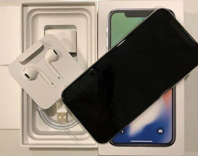 AU999 • Buy Apple IPhone X - 256GB - Silver (Unlocked) A1865 (CDMA + GSM) (AUS Stock)
