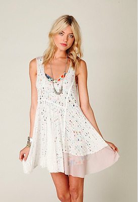 $ CDN197.52 • Buy Free People Luscious Lagoon Crochet Trapeze Slip Dress Rare ASO Violet Harmon