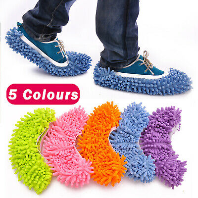 Duster Microfibre Shoe Sock Slippers Mop Dust Remover Cleaning Floor Polisher Uk • 4.39£