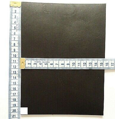 Black Veg Tan Craft Leather 2mm Thick  Tooling Leather Hide Small Offcuts • 5.50£