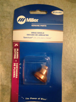 $14.99 • Buy Item 122-Miller 251960 Plasma Cutting Drag Shield, Spectrum 375,375/625 X-TREME