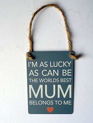 I Love You Mum Gifts Sign For Birthday Someone Special Mummy Mothers Day Plaque • 3.79£