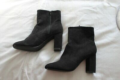 *NEW* London Rebel Black Suedette Ankle Boots Size 8/41 RRP £65 • 32.49£