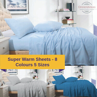 AU39 • Buy Ramesses Cashmere Touch Polar Fleece Flannel Sheet Set Warm Sheet Winter Bedding