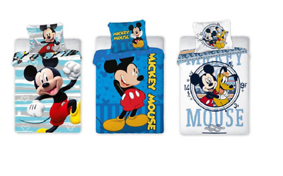 £18.99 • Buy New Disney Mickey Mouse Baby Toddler Bedding Set 100% COTTON Cot Bed Blue