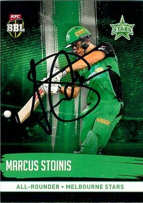 AU11.99 • Buy ✺Signed✺ 2016 2017 MELBOURNE STARS BBL Cricket Card MARCUS STOINIS