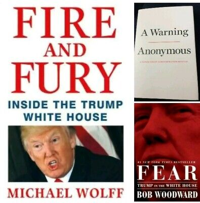 AU40.41 • Buy Warning Anonymous Fire And Fury Fear Hardcover Books Lot Of 3 Trump Administrati