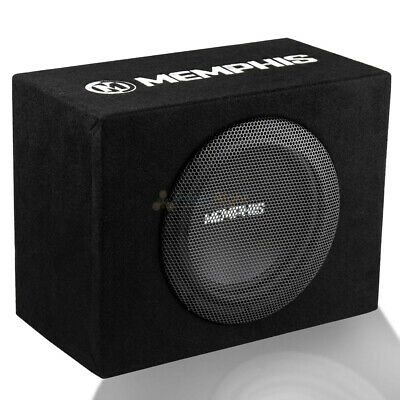 $159.95 • Buy Memphis Audio 8  Loaded Enclosure Powered Subwoofer Bass System Combo SRX08SP