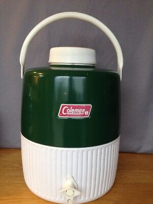 $33 • Buy VINTAGE 1970's GREEN COLEMAN JUG METAL HANDLE 2 GALLON WATER COOLER THERMOS