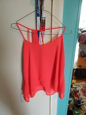 AU9.90 • Buy Bershka Coral Bright Orange Top   10