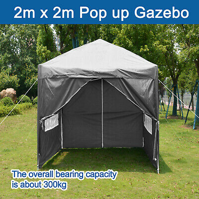 £68.99 • Buy 2x2M Gazebo Pop Up Tent Canopy Outdoor Wedding Marquee Garden Party W/4 Sides UK