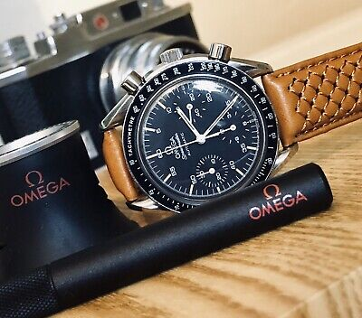 View Details Omega Speedmaster Steel Black Dial Men's Reduced 38mm Automatic Watch  + New Box • 1,999.99£