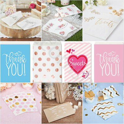 Paper Sweet Bags Candy Treat Party Bags Wedding Birthday Hen Party Favour Bags • 2.99£