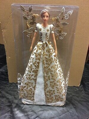 GISELA GRAHAM GOLD CHRISTMAS TREE TOPPER ANGEL FAIRY - 18cm - 08 • 10.99£