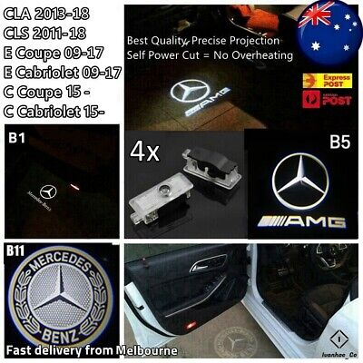 AU52.99 • Buy 4x Puddle Lights Welcome Courtesy Door For Mercedes Benz CLA CLS C E Coupe AUS